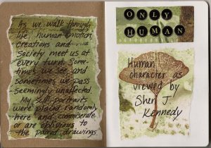 Intro page and artist's statement of intent