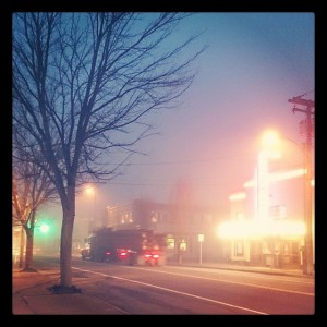 Foggy Evening North Bend