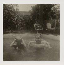 swimming pool at Les Thompson's on visit to Miami Sheri 67