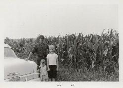 'uncle' Jake Thiessen farmer at West Indies Mission corn fields by our home in Homer City PA 67