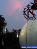 Moon over the Science Center