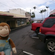 George made it over the mountains in the rainstorm to Hilo