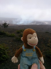 George at the crater