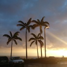 George said, Ooooo when he saw his first Hawaiian sunset in Kailua-Kona