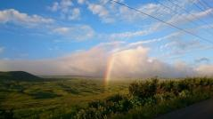 After dinner George was back on Hwy 19 and saw dramatic gorges and a genuine Hawaiian rainbow!
