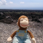 George couldn't be late for the wedding, so he took a quick trip down the coast and stopped at the lava fields