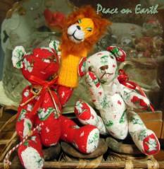 Bears and Lion Christmas Card 2015
