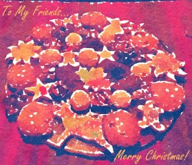 Cookie Plate Christmas Card 2015